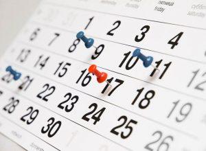 Calendário das atividades do Regional Sul 3 – 2017