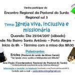 Encontro Regional da Pastoral do Surdo será dia 29 de abril
