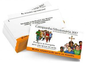 Coleta do Dia Mundial das Missões acontece nos dias 21 e 22 de outubro em todas as comunidades
