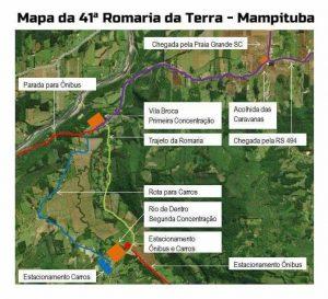 Mapa romaria