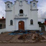 Reforma da igreja em Tavares na fase final
