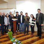 Padre Rudinei, do Serviço de Evangelização da Juventude reúne-se com mais uma diocese, na 12ª visita.