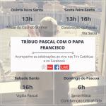#RezemosJuntos com o Papa Francisco o Tríduo Pascal