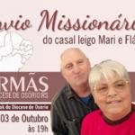Projeto Igrejas Irmãs: Osório envia casal em missão na Amazônia