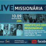 COMIRE promove live sobre as Pontifícias Obras Missionárias