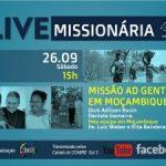 Live do COMIRE no sábado (15h) é sobre a Missão Moçambique