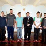 Dom Adimir realiza encontro com os seminaristas e seu Reitor