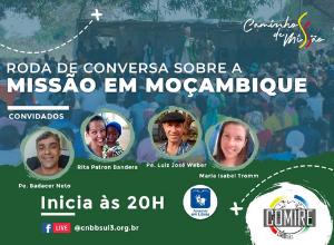 Próxima live do COMIRE é dia 13 de maio, sobre a Missão em Moçambique