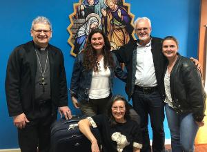 Pe. Camilo Pauletti e Maria Bernardete Acadroli partem para Moçambique